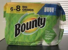 Bounty Paper Towels 6 Big Rolls = 8 Regular Rolls Select A Size