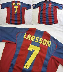 Henrik Larsson #7 FC BARCELONA jersey shirt NIKE BARCA 2004-2005 adult SIZE XL