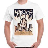 Metropolis T Shirt Classic Sci-Fi Film Poster CooL Vintage Retro TShirt 260
