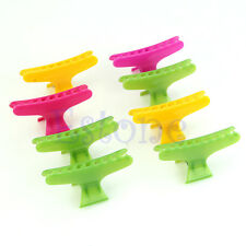 12Pcs Colorful Hairdressing Tool Butterfly Hair Claw Salon Section Clip Clamps