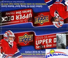 2015/16 UD Series 1 Hockey Factory Sealed 24 Pack Retail Box-6 Young Guns+Jersey
