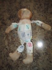 """Antique Vintage Primitive Cloth Doll with Painted Face Hands & Feet 13"""""""