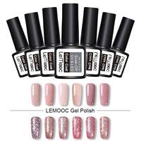 LEMOOC 8ml Gellack  Color Sequins Soak Off UV Gel Nagel Kunst Varnish Design