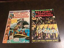 SGT. FURY AND HIS HOWLING COMMANDOS #128 & 130. Vintage Marvel comics lot