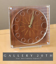 RARE! MID CENTURY NUMISMATIC COIN CLOCK! VTG COIN COLLECTING COINAGE LUCITE 60'S
