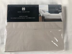 NIP Hotel Collection Queen Flat Sheet 100% Supima Cotton Percale 470 Thread Coun