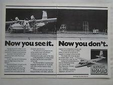 1981-1982 PUB GAF AUSTRALIAN AIRCRAFT NOMAD N24A AVION FLUGZEUG ORIGINAL AD