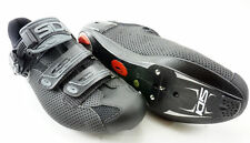 SIDI Genius 7 Air Road Cycling Shoes Men's Size US 10.25 EUR 44.5 Black 3 Bolt