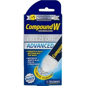 Compound W Freeze Off Advanced Wart Remover with Accu-Freeze, Multicolor, 1 C...