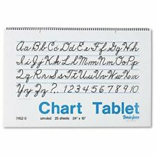 """Pacon Cursive Cover Unruled Chart Tablet - 25 Sheet - Unruled - 24"""" X 16"""" - 24 /"""