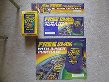 """JOE CAMEL """"SMOKIN JOE'S RACING"""" TIN WITH MATCHES NIB 1994 & 3 PIECE POS KIT"""