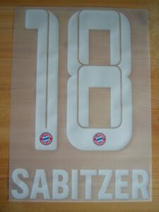 FC Bayern München orginal Flock Sabitzer 18 Home 2021/22 Kids Gr.128 bis 164 NEU