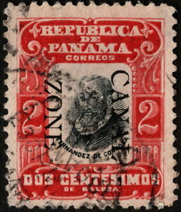 Canal Zone - 1906 - 2 Cents Black & Red Cordoba Overprinted Issue # 23 F - VF