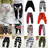 Toddler Kids Boy Girls Harem Pants Sweatpant Joggers Cotton Bottoms Trousers