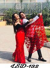 Wedding Designer Saree Net Fabric Indian Wear Blouse Bollywood Traditional RTC