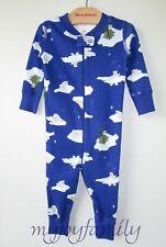 HANNA ANDERSSON Baby Organic Zip Sleeper Winter Bear Snow Blue 75 12-18 mos NWT