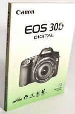 CANON EOS 30D DIGITAL CAMERA OWNERS INSTRUCTION MANUAL -CANON-from 2006