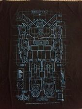 Voltron Schematic Large Cotton Tshirt Blue - NEW!! Loot Crate