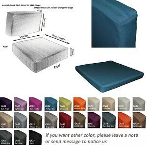 Qh04-Tailor Made*Sofa Window Seat Arm Chair Pad 3D Box Cushion Cover Pillow Case