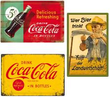 Blechschild Coca Cola 40x60cm Nostalgic Art nostalgisch retro Schilder Wanddeko