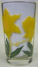Daffodils juice size Peanut Butter Glass Glasses Drinking Kitchen Mauzy 116-10