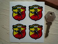 ABARTH & Co FIAT 40mm Set of 4 Car STICKERS LeMans Sports Racing 500 Race Rally