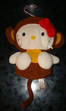 BANDAI HELLO KITTY Sanrio ZIPPER Pouch Wallet PLUSH Doll Japan Purse MONKEY