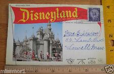 Disneyland 1956 postcard souvenir folder Jungle Cruise Astro-Jet Nice!