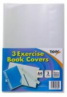 Tiger Pack of 3 A4 Exercise Book Clear Covers -3017552