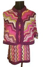 Missoni Girls X-Large XL Knit Poncho & Dress Set - Purple Pink Sparkly Chevron