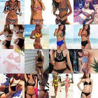 Women Push Up Padded Bra Bandage Bikini Set Swimsuit Beachwear Swimwear Bathing