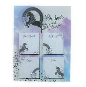 Unicorn Sticky Pad Notes Pad Fridge Magnetic Memo Message Board Notice Reminder