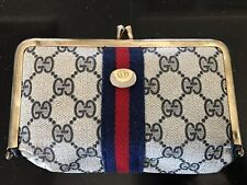 Vintage Gucci Cosmetic Makeup Pouch Case with Mirror