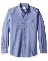 GOODTHREADS Slim-Fit Long-Sleeve Dobby Shirt Mens Sz M - Blue Diamond