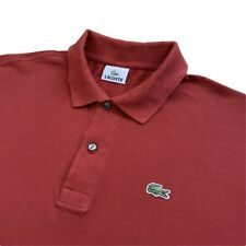 Vintage LACOSTE Polo Shirt | Size 6 (XL) | Red Classic Short Sleeve