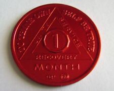 Recovery coins AA Aluminum Medallion token sobriety affirmation birthday 1 Month