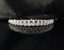 UK Quality Crystal Bridal TIARA Wedding Prom Crown Gift Sparkling #sj2299A