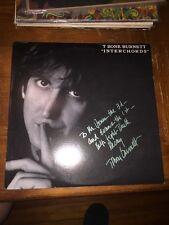 "SIGNED!! T Bone Burnett Interchords Promo 12"" LP Scarce 1988"
