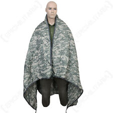 Rip Stop Poncho Liner - AT Digital - One Size fits all - Waterproo Rain Cape