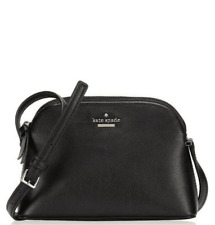 New Authentic Kate Spade Peggy Dome Crossbody Handbag Purse Black Leather