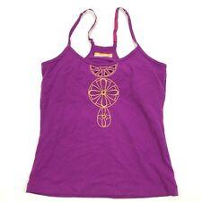 Lucy Lux Womens Purple Tank Top Size Medium M Racerback Athleisure Top Shelf Bra