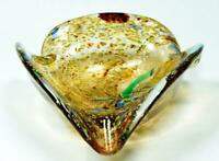 Vintage Murano Sommerso Glass Ashtray Bowl c1960s Toso Style