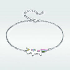925 Sterling Silver Bracelet Lovely Unicorn Beauty luxury Charm Women Jewelry