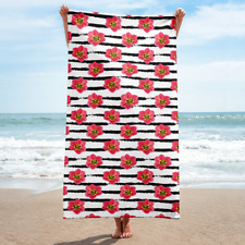 New Stripe Premium Beach Towel , Super Soft Absorbent Large American Bath Towel