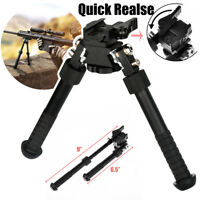 "CVLIFE Rifle Bipod Quick Detach Mount 6.5-9"" Adjustable Fit 20mm Picatinny Rail"
