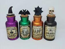 New - Glass Potion Bottles - Lot of 4 - Halloween Decor Bottles