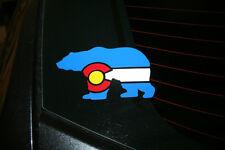 Colorado State Flag Bear Shape Die-Cut Sticker