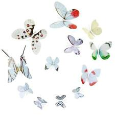 Colorful 12x 3D Butterfly Wall Sticker Fridge Magnet Room Decor Decal Applique