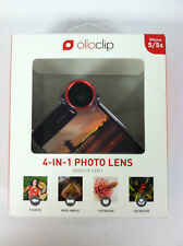 New Olloclip 4 in 1 Photo Lens for Apple iPhone 5 5s Wide Angle Red Black *