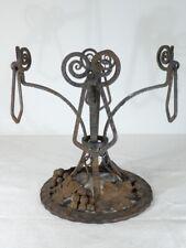 Imposant pied centre de table ART-DECO 1930 Fer Forgé